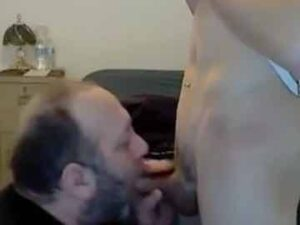 18yo Gets His Cock Drained By Bearded Daddy